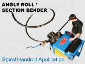 Angle Roll - Section Bender Spiral Handrail