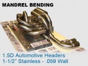 Mandrel Bending 1.5D Auto Headers