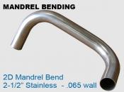 Mandrel Bending 2D 2.5 in Stainless