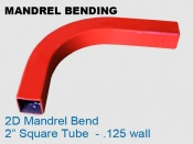 Mandrel Bending 2D 2 in Square Tube