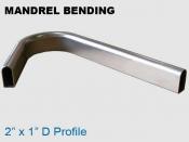 Mandrel Bending 2x1in D Profile
