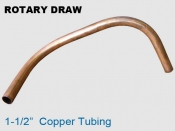Rotary Draw 1.5 in Copper Tubing
