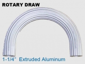 Rotary Draw 1.25 in Extruded Aluminum