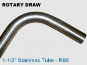 Rotary Draw 1.5 in Stainless R90