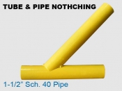 Tube & Pipe Notching - 1. 25 in Sch. 40 Pipe